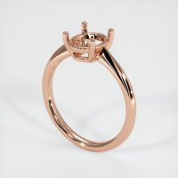 14K Rose Gold Ring Setting - JS1169R14
