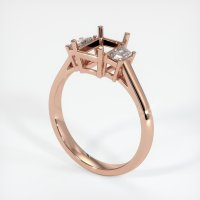14K Rose Gold Ring Setting - JS117R14