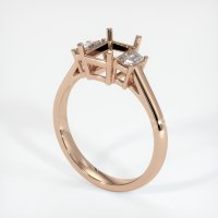 18K Rose Gold Ring Setting - JS117R18