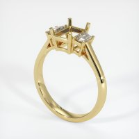 18K Yellow Gold Ring Setting - JS117Y18