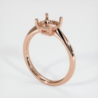 14K Rose Gold Ring Setting - JS1171R14