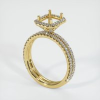 18K Yellow Gold Pave Diamond Ring Setting - JS1174Y18