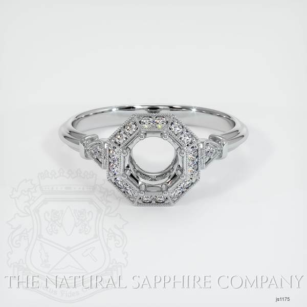Antique Style Pave Ring Setting JS1175 Image 2