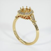 14K Yellow Gold Pave Diamond Ring Setting - JS1175Y14