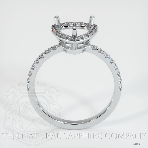 Scoop Cut Pave Diamond Halo Setting - Cushion Cut JS1179 Image 3