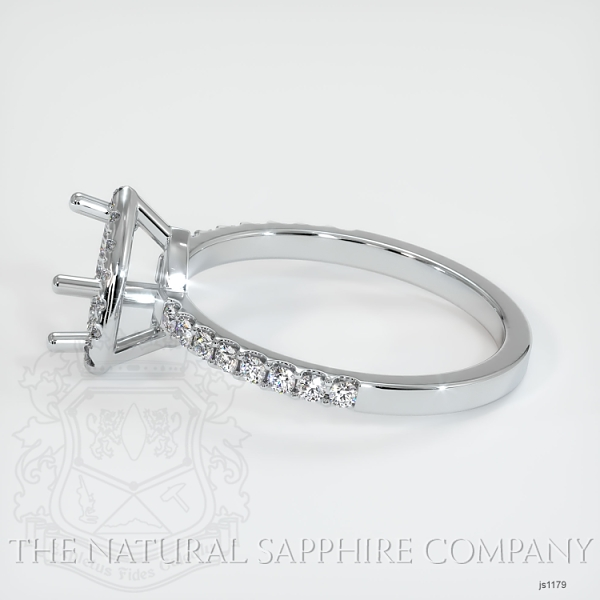 Scoop Cut Pave Diamond Halo Setting JS1179 Image 4