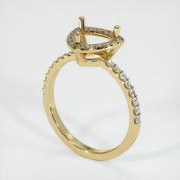 14K Yellow Gold Pave Diamond Ring Setting - JS1179Y14