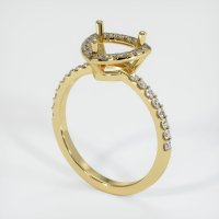 18K Yellow Gold Pave Diamond Ring Setting - JS1179Y18