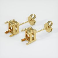 18K Yellow Gold Earring Setting - JS118Y18