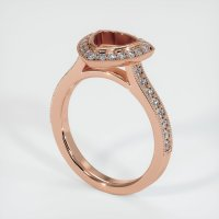 14K Rose Gold Pave Diamond Ring Setting - JS1180R14