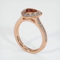 18K Rose Gold Pave Diamond Ring Setting - JS1180R18