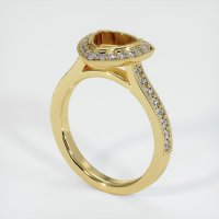 18K Yellow Gold Pave Diamond Ring Setting - JS1180Y18