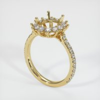 14K Yellow Gold Pave Diamond Ring Setting - JS1189Y14