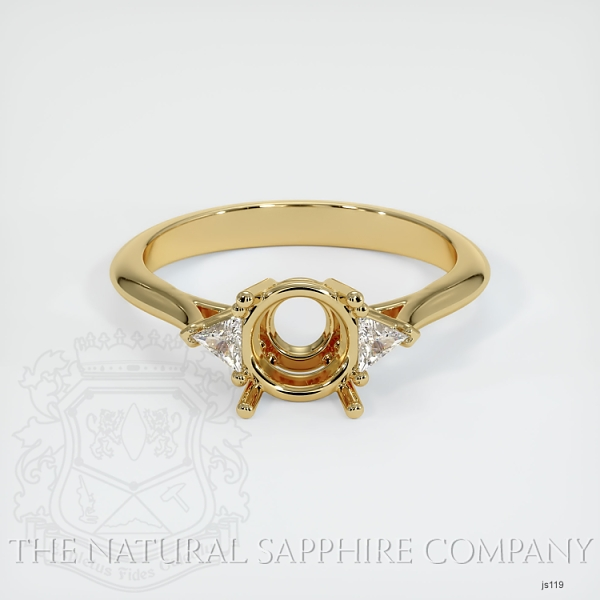 4 Prong Three Stone Ring - Trillion Diamonds JS119 Image 2