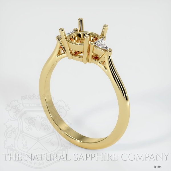 4 Prong Three Stone Ring - Trillion Diamonds JS119 Image