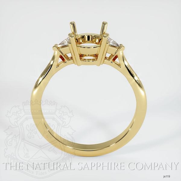4 Prong Three Stone Ring - Trillion Diamonds JS119 Image 4