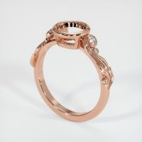 14K Rose Gold Ring Setting - JS1190R14