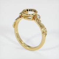 14K Yellow Gold Ring Setting - JS1190Y14