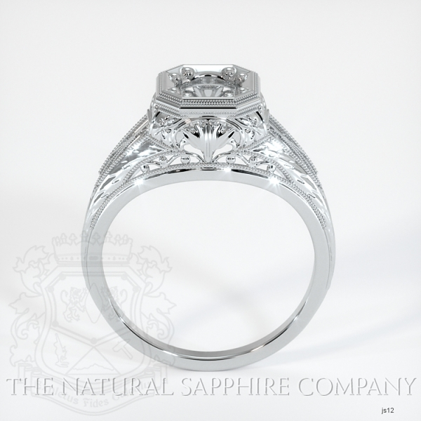 Antique Solitaire Ring Setting JS12 Image 4