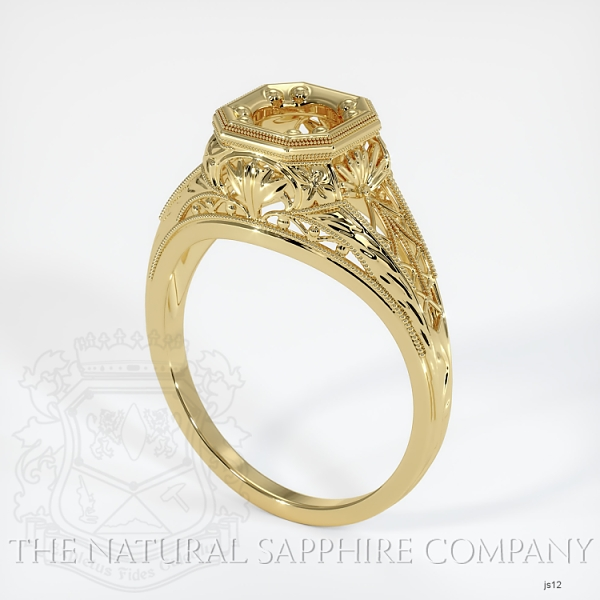 Antique Solitaire Ring Setting JS12 Image