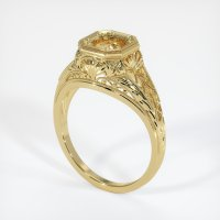 18K Yellow Gold Ring Setting - JS12Y18