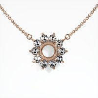 14K Rose Gold Necklace Setting - JS121R14