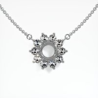 14K White Gold Necklace Setting - JS121W14