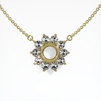 14K Yellow Gold Necklace Setting - JS121Y14