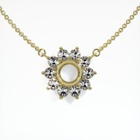 18K Yellow Gold Necklace Setting - JS121Y18