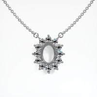14K White Gold Necklace Setting - JS123W14
