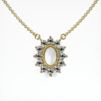18K Yellow Gold Necklace Setting - JS123Y18