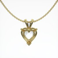 18K Yellow Gold Pendant Setting - JS125Y18