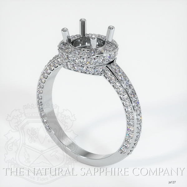 4 Prong Pave Ring Setting JS127 Image