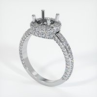 18K White Gold Pave Diamond Ring Setting - JS127W18