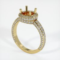 18K Yellow Gold Pave Diamond Ring Setting - JS127Y18