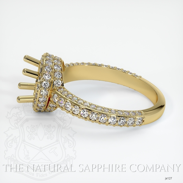 4 Prong Pave Ring Setting JS127 Image 3