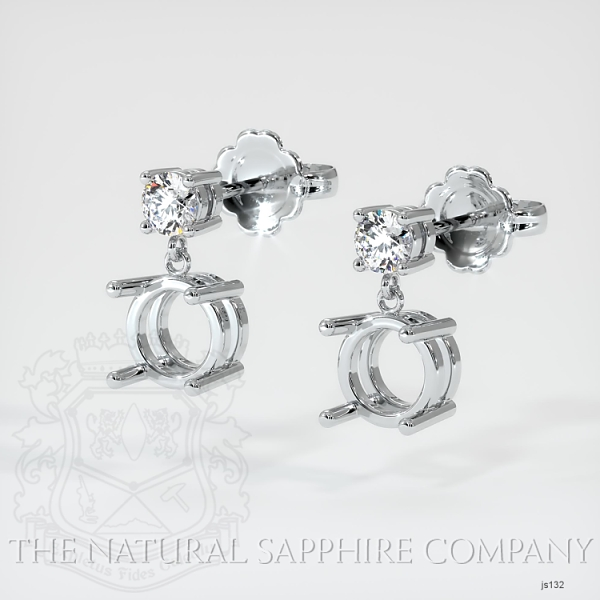 4 Prong Dangling Diamond Earring Setting JS132 Image