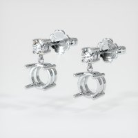 18K White Gold Earring Setting - JS132W18