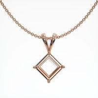 14K Rose Gold Pendant Setting - JS141R14