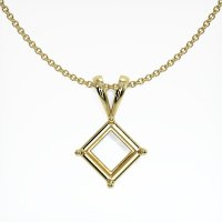 18K Yellow Gold Pendant Setting - JS141Y18