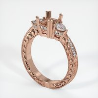 14K Rose Gold Pave Diamond Ring Setting - JS156R14