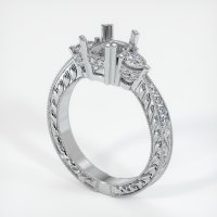18K White Gold Pave Diamond Ring Setting - JS156W18