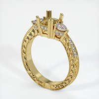18K Yellow Gold Pave Diamond Ring Setting - JS156Y18