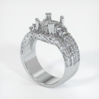 Platinum 950 Pave Diamond Ring Setting - JS157PT