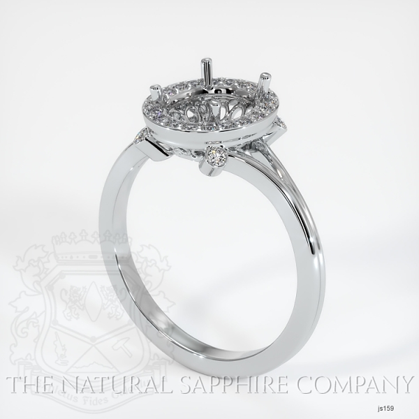 Pave Diamond Halo Setting - Split Shank JS159 Image