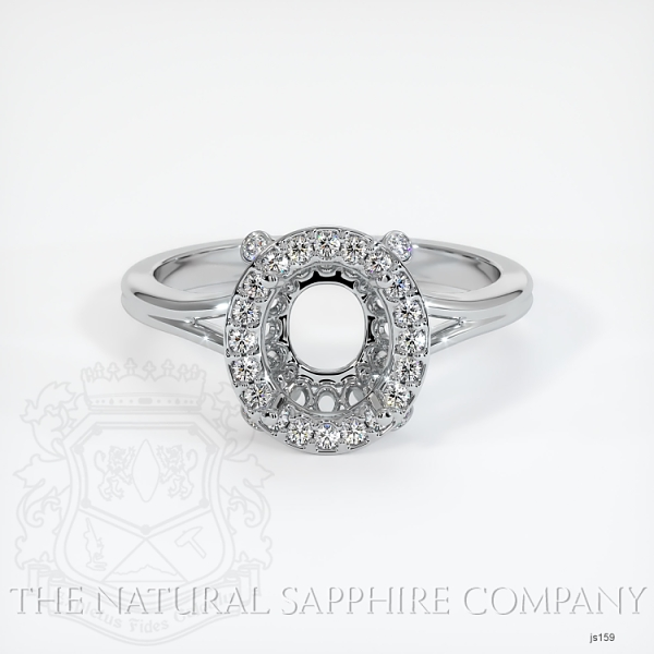 Pave Diamond Halo Setting - Split Shank JS159 Image 2