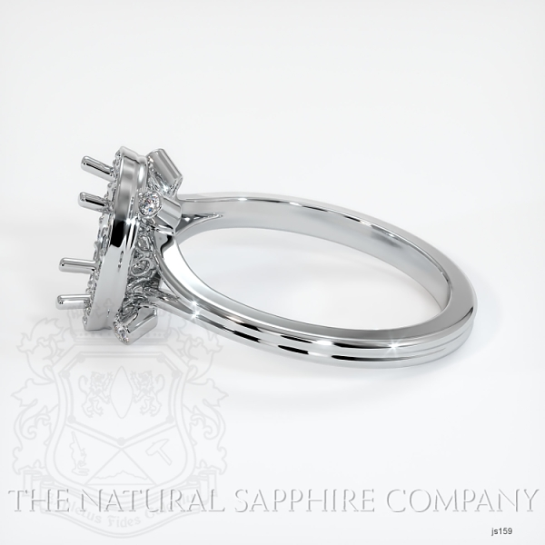 Pave Diamond Halo Setting - Split Shank JS159 Image 3