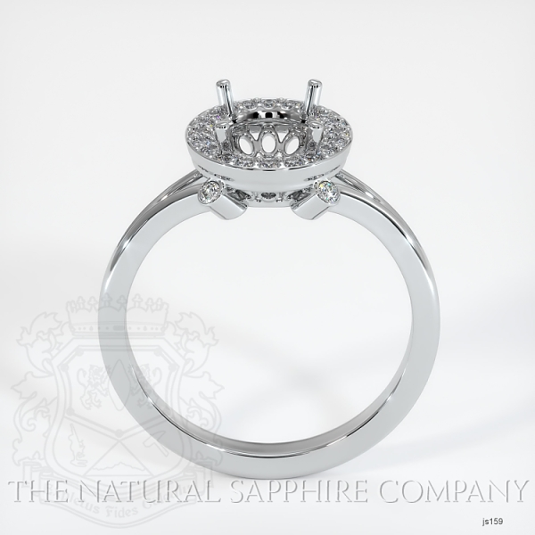 Pave Diamond Halo Setting - Split Shank JS159 Image 4
