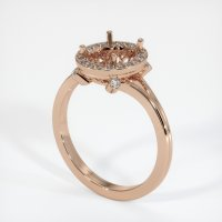 18K Rose Gold Pave Diamond Ring Setting - JS159R18