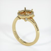 14K Yellow Gold Pave Diamond Ring Setting - JS159Y14